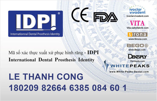 IDPI-International Dental Prosthesis Identity